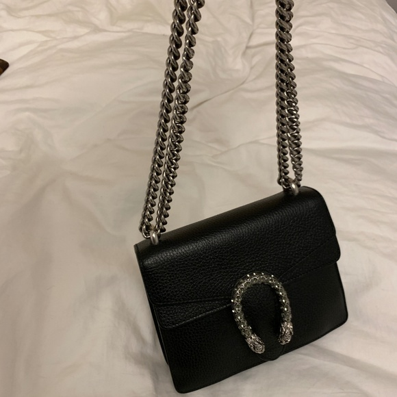 25afeb1abeb Gucci Handbags - Gucci Dionysus Black Leather Chain Crossbody Bag